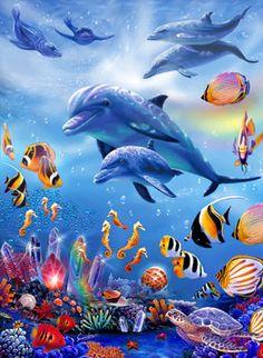 Seahorse Kingdom Mural - Steve Sundram| Murals Your Way