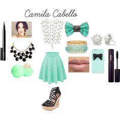 Camila Cabello outfit by ashley-14-blue on Polyvore featuring Charles by Charles David, Bijoux de Famille, Allurez, INIKA, NARS Cosmetics and Kate Spade