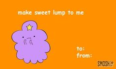 cartoon valentine's card lumpy princess