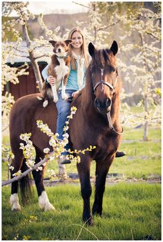 Senior girl with horse and dog Shaylyn // Okanogan Senior 2013 www.lifesong-photography.com