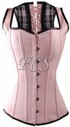 Pink Leather Overbust Corset Vest -from site with cheap corsets