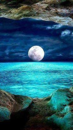 Mond und Sterne..