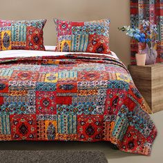 Barefoot Bungalow Indie Quilt Set, Full/Queen, Spice ** You can find out more details at the link of the image. (This is an affiliate link)