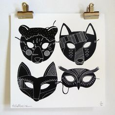 masques print by Hellomarine