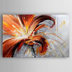 Pintada a mano Floral/Botánico Pinturas de óleo,Modern Un Panel Lienzos Pintura al óleo pintada a colgar For Decoración hogareña 2017 - $1164.52