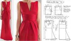 Sewing Pattern/ Red Dress