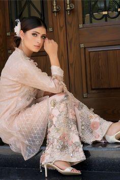 New Arrival Dress Pearl Passion Simple Pakistani Dresses, Pakistani Bridal Dresses, Pakistani Dress Design, Pakistani Outfits, Bridal Lehenga, Pakistani Clothing, Indian Dresses, Indian Outfits, Stylish Dress Designs