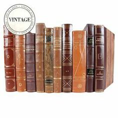 """Set of 10 leather-bound vintage Scandinavian language books.   Product: 10-Piece book setConstruction Material: Paper and leatherColor: MultiDimensions: 10"""" H x 15"""" W x 7"""" D (overall)Note: Due to the vintage nature of this product, some wear and tear is to be expected. Products may show signs of brand marks, scrapes or other blemishes.Cleaning and Care: Wipe with damp cloth"""