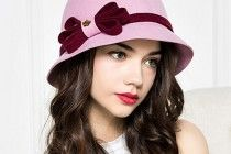 Elegant bow cloche hat for winter fashion ladies wool felt hats