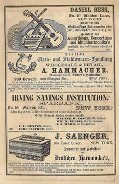 1866 German ad page from my personal collection of ephemera Land Of Nod Studios
