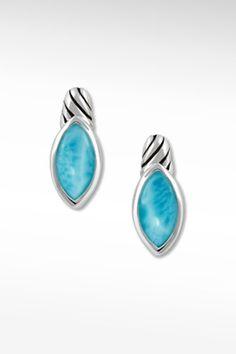Larimarket - MarahLago Iris Collection Larimar Earrings, $180.00 (http://www.larimarket.com/marahlago-iris-collection-larimar-earrings/)