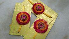 #Rakhi2017 - Silk Thread Rakhi Handmade Rakhi, Rakhi Design, Silk Thread, Crochet Earrings, Jewellery, Diy, Crafts, Collection, Jewels