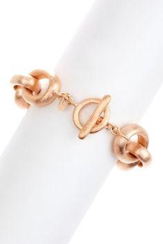 Rivka Friedman 18K Rose Gold Clad Bold Satin Finish Rolo Bracelet by Inside Our Vault on @HauteLook