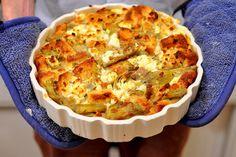 artichoke and goat cheese strata more artichokes chee stratta yum ...