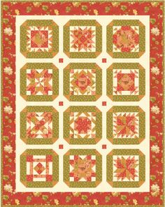 Somewhere in Time 2008 Block of the Month Quilt Free From Block Central! - like this