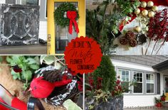 DIY tips on Winterizing your Flower Containers for the Holiday Season...some really cute ideas to make your porch look festive