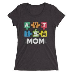 Autism Shirt, Autism Awareness, Autism Mom, #clothing #women #tshirt @EtsyMktgTool #autismshirt #autismawareness #autismmom Valentine Day Special, Grandparents Day, Autism Awareness, Mom Shirts, Suits You, Classic T Shirts, Trending Outfits, Puzzle