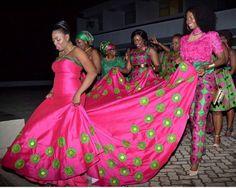 African wedding gown/ankara gown /women by Elegant Wedding Dress, Trendy Wedding, Wedding Styles, Wedding Gowns, Wedding Ideas, African Outfits, African Clothes, African Fashion, African Wedding Attire