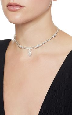 Chevalier Collection Choker by Yeprem Real Diamond Necklace, Diamond Gemstone, Diamond Jewelry, Ear Jewelry, Jewelery, Expensive Necklaces, Royal Crown Jewels, Contemporary Jewellery Designers, Diamond Dreams
