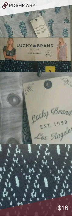 I just added this listing on Poshmark: Lucky Brand ladies  sleepshirt pk of 2 size S NWT. #shopmycloset #poshmark #fashion #shopping #style #forsale #Lucky Brand #Other