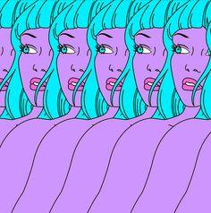 Blue hair Girls