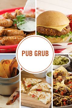 Get your hands on our top picks for bar food favorites: chicken wings, burgers, fries and more loaded with craveable flavors. Pub Grub just got a whole new meaning.