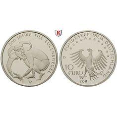 Bundesrepublik Deutschland, 10 Euro 2011, Till Eulenspiegel, D, bfr.: Kupfer-Nickel-10 Euro 2011 D. Till Eulenspiegel. bankfrisch… #coins