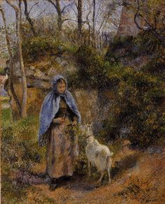 Peasant Woman with a Goat, 1881 - Camille Pissarro