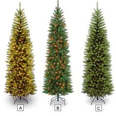 90 IN KINGSWOOD FIR PENCIL TREES | Get Organized  #holidaytree #holidaydecor