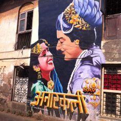 Bombay/ Mumbai India - street art bandra