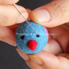 needle felting tips and tut for little birds