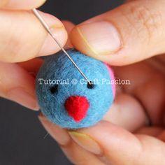 needle felting tips and tut for little birds