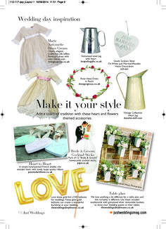 Lovely feature in Just Wedding Magazine