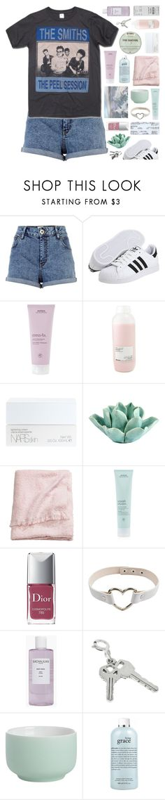 """scavenger hunt winners !!"" by g-allifrey ❤ liked on Polyvore featuring River Island, adidas Originals, Aveda, Davines, NARS Cosmetics, Dot & Bo, H&M, Christian Dior, Sachajuan and CB2"