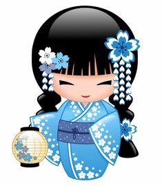 Carte Postale Poupée de Kokeshi d'hiver - fille de geisha Japanese Art, Matryoshka Doll, Momiji Doll, Japanese Dolls, Kokeshi, Art, Asian Cards, Pebble Art, Geisha Art