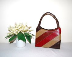 Mod Stripes Handbag by CheekyVintageCloset on Etsy, $22.00