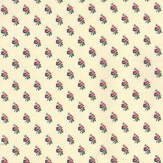A La Carte - Small Floral in White (21664 11)  // Moda Fabrics at Juberry
