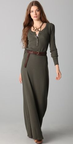 Love maxi dresses - and a long-sleeved one is even better :)