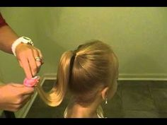 Sock bun for girls- says in video it's the bibbity bobbity boutique hair but it's not- still cute though!