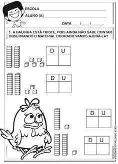Matemática Infantil: Atividade Material Dourado Galinha Pintadinha
