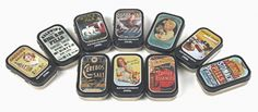 small hinged tins )