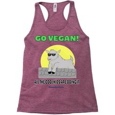 Vegan Cool Kid - Bella 8430 Triblend Racerback Tank Top