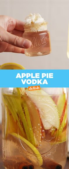 You're gonna drink Apple Pie Vodka all fall long. Get the recipe at Delish.com.