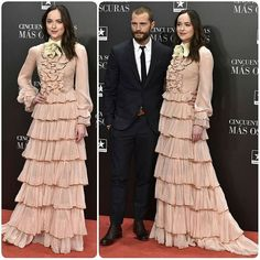 Fifty Shades Darker Madrid Premiere#DakotaJohnsson is wearing  #Gucci#Fashion #style #celeb #celebrity #redcarpet #2017 #redcarpet #gown #hautecouture #couture #highheels #heels #shoes #makeup #hair #hairdo #instagram #nofilter #look #beautiful #gorgeous #grammys #reddress #redcarpetstyle #Fiftyshadesdarker #fiftyshadesofgrey #guccigown... - Celebrity Fashion