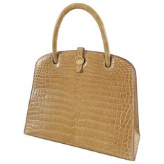 Vintage and Designer Top Handle Bags - For Sale at Hermes Vintage, Vintage Tops, Fashion Handbags, Louis Vuitton Speedy Bag, Crocodile, Purses And Bags, Diy Ideas, Cool Style, Handle