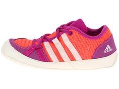 adidas Kids Boat Lace I (Infant/Toddler) Red Zest/Chalk/Vivid Pink - Zappos.com Free Shipping BOTH Ways
