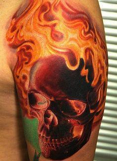 Tatuagens de Fogo e Chamas