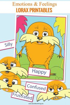 Seuss Printables Preschool Emotions Lorax Activities - Natural Beach Living Informations About Dr. Seuss Printables Preschool Emotions and Feelings Lorax Activities - Natural Beach Living Pin You Dr Seuss Activities, Preschool Science Activities, Preschool Themes, Preschool Printables, Activities For Kids, Preschool Decorations, Preschool Food, Science Lessons, Free Printables