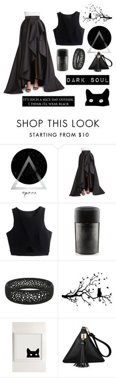 """dark soul contest"" by clixa ❤ liked on Polyvore featuring Monique Lhuillier, MAC Cosmetics and Urban Outfitters"