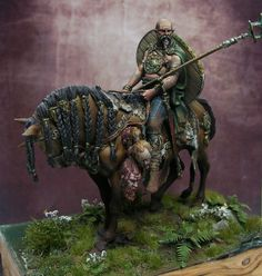 """Celtic warrior on horse by Markus """"Shejtan"""" W. · Putty&Paint"""